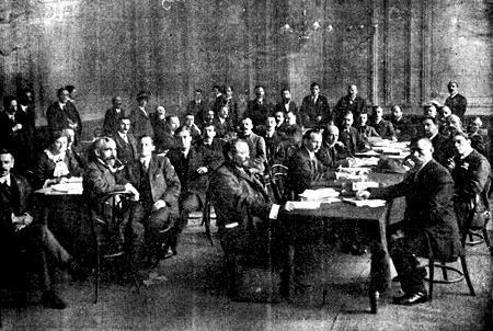 Una sessió del Congrés Internacional Sindicalista de Londres de 1913
