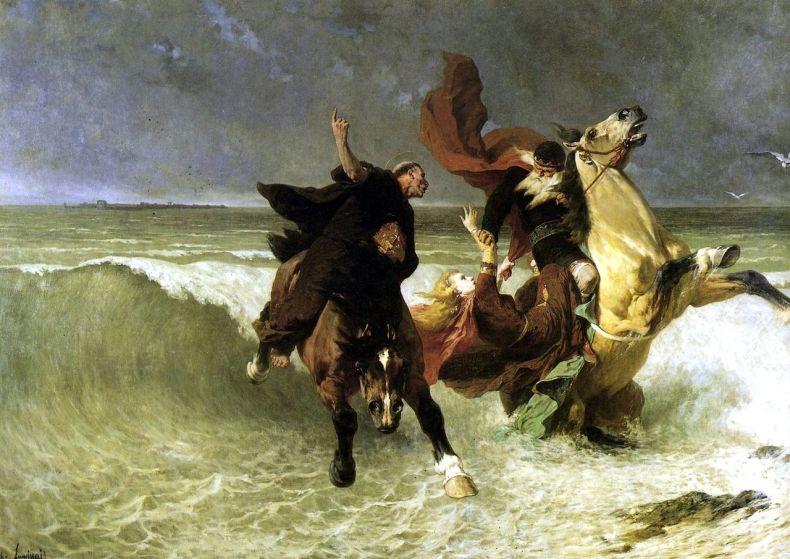 Flight of King Gradlon, by E. V. Luminais. Source: Wikipedia