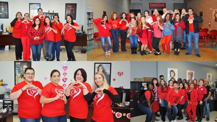 Go Red for Women! Farouk Systems Inc. supports National Wear Red Day