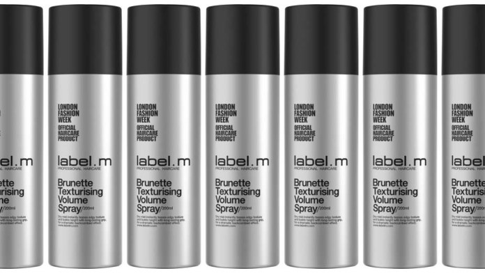 Backcombing effect in a can! Meet the New label.m Brunette Texturising Volume Spray