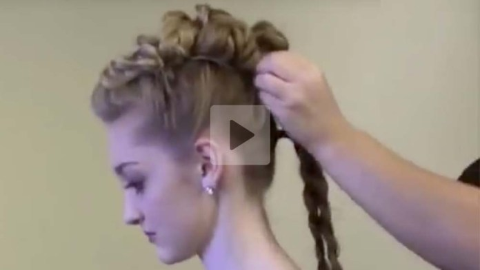 Video Alert! How To Create a Faux Hawk Knotted Braid Updo