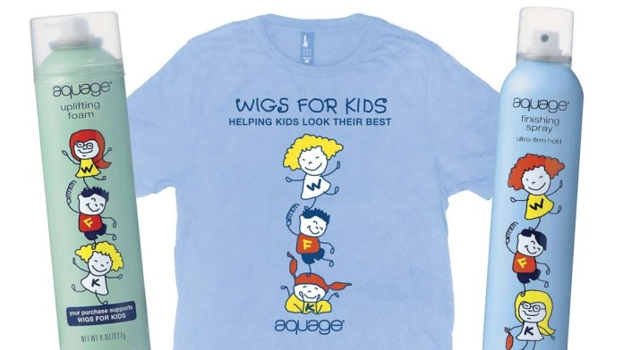 A Wonderful Cause: Aquage launches Limited Edition Collection for Wigs for Kids