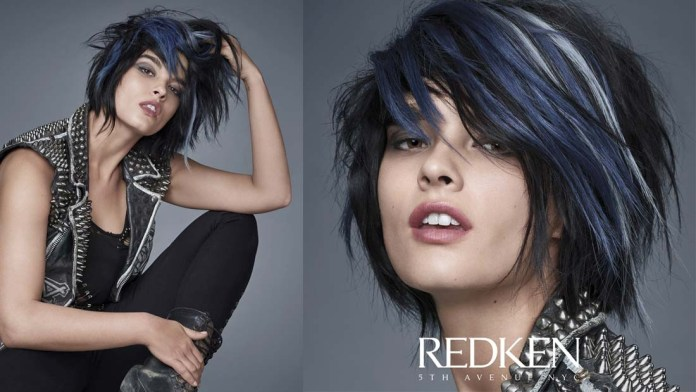 How To! New York City Glam – Midnight Edge Hair Trend by Redken