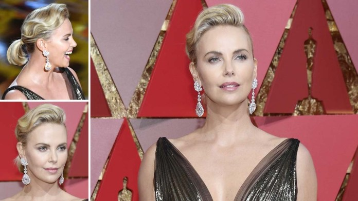 Get the Oscars' Look! Charlize Theron's Retro Ponytail Updo by Enzo Angileri for Wella Professionals