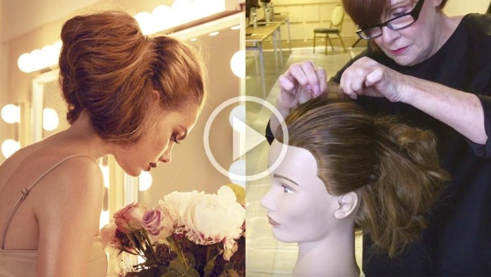 Video Alert! How To: Sharon Blain's Whimsical Soft Updo without using Bobby Pins