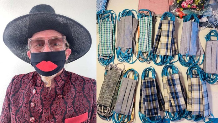 Safe Face LA / JPMS Director of Events Crafts Face Masks to Help Stop The Spread of Covid-19
