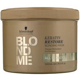 Masca Regeneratoare cu Cheratina pentru Par Blond – Schwarzkopf Blond Me Keratin Restore Bonding Mask, 500ml