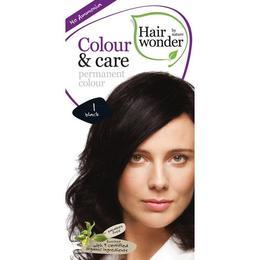 Vopsea par naturala, Colour & Care, 1 Black, Hairwonder