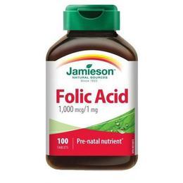 Acid Folic Jamieson 1mg, 100 comprimate
