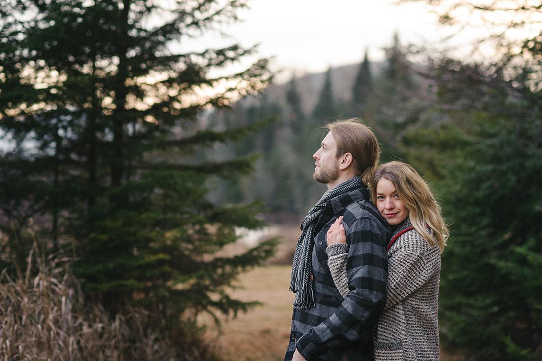 Mont Tremblant engagement photos