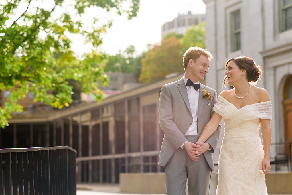 Wedding portraits on McGill campus, Montreal