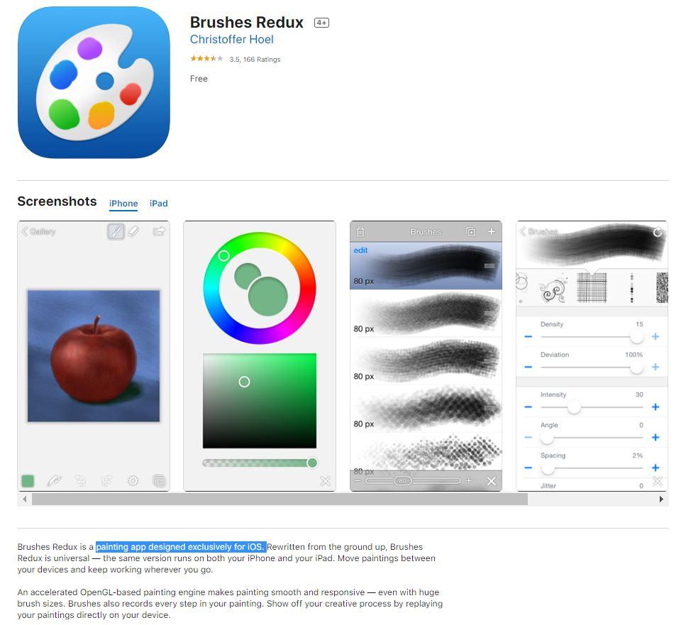 Brushes App -Apple Store- Esther Goh Tok Mui