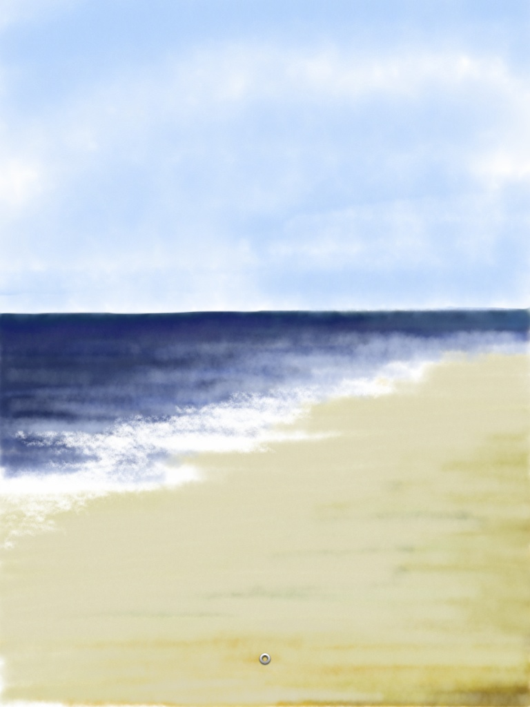 Esther Goh Tok Mui - the beach -Drawn with Brushes App