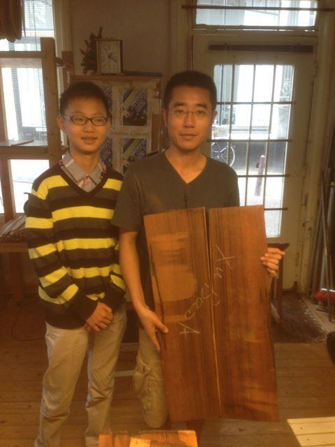 Kuang Junhong and Xu Bao in Otto Vowinkels workshop