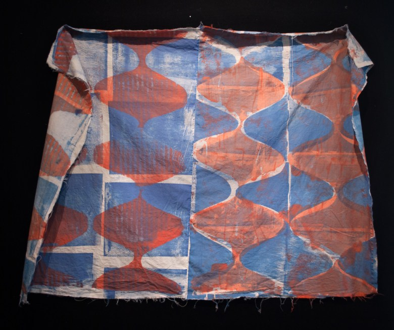 ESW, Pattern Study (Contractions), 2016;; cotton, fiber-reactive dye; screen printed, machine stitched