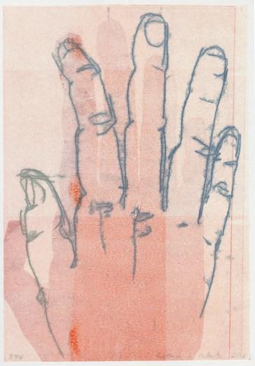 """Esther S White, 374, 2013, 13""""x19"""", monotype"""