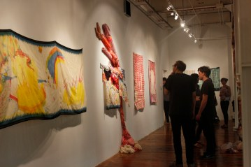 Installation view of Piecework, 2015