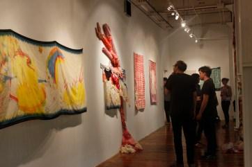 Installation view of Piecework, 2015
