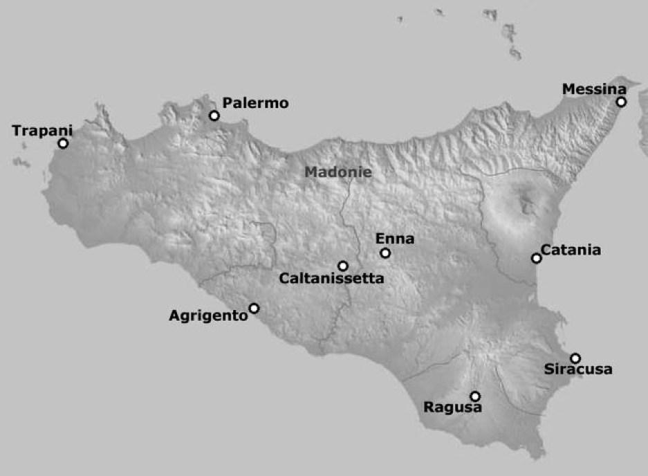 mapa da sicilia