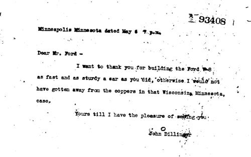 carta verdadeira dilliger ford