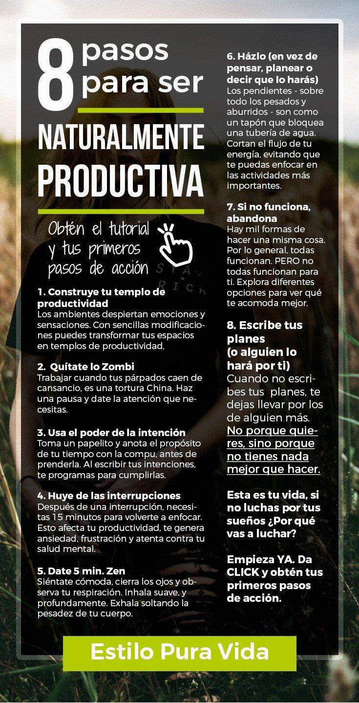 La productividad es algo natural que puedes fácilmente conseguir. Con estos sencillos cambios, deshacerte de los pendientes será rápido y divertido.