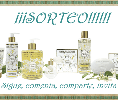 Sorteo lote 3 productos de Jeanne en Provence, Jasmin Secret