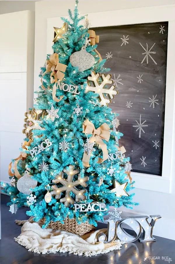 arbol de navidad decorado azul y plata 72722 dfiles