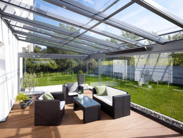 Cerramientos de vidrio para terrazas, porches y jardines