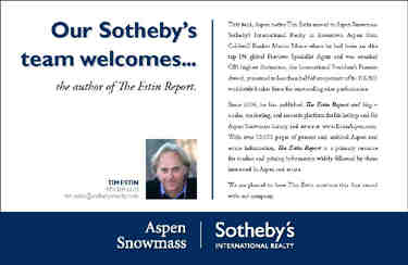 Tim Estin Joins Aspen Sotheby's Team… Image