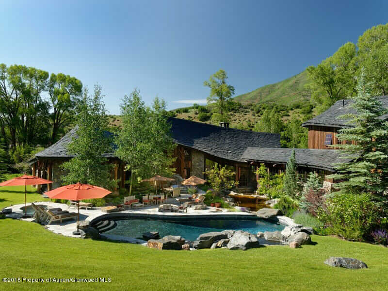 Wyly Estate Ranch Auction in Woody Creek Closes at $14.02M with 6 Homes on 244 Acres. Image