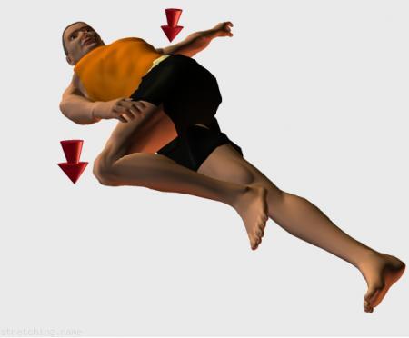 Estiramiento (stretching, streching) recomendado para:  windsurf,  surf,  escalada,  voleibol,  natación,  artes Marciales,  rugby,  fútbol americano,  espalda,  piernas,  cadera,  dormir,  ciática,  glúteo.