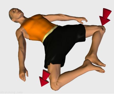 Estiramiento (stretching, streching) recomendado para:  fútbol,  baloncesto,  ciclismo,  voleibol,  artes Marciales,  balonmano,  espalda,  piernas,  dormir,  pilates,  aductor.