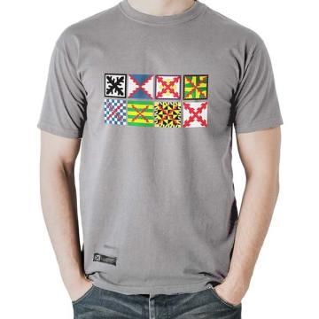 camiseta estirpe imperial bandera tercios gris