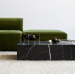 Menu Low Black Marble Plinth Coffee Tables Est Living Product Library