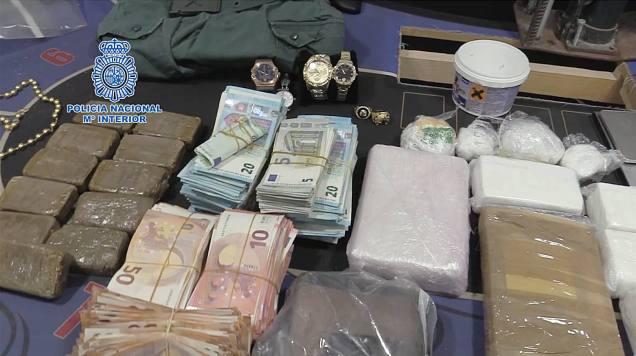 Policia nacional drogas dinero joyas