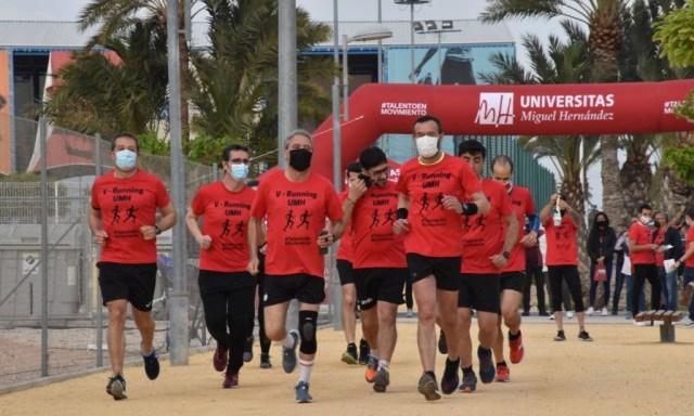 El alcalde y el rector de la UMH inauguran el Circuito V-Running en el campus de Elche