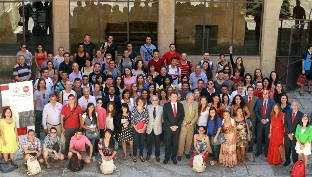 Participantes da edição 2015 do programa Top España em Salamanca