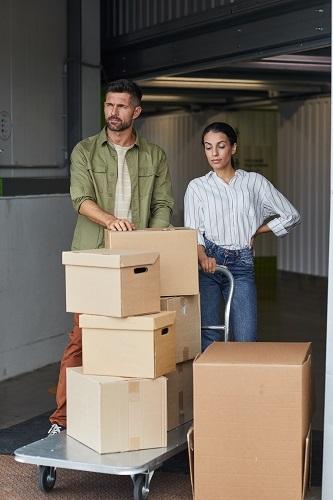 Transporte de objetos para box