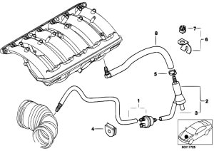 Original Parts for E46 320i M52 Sedan  Engine Vacuum