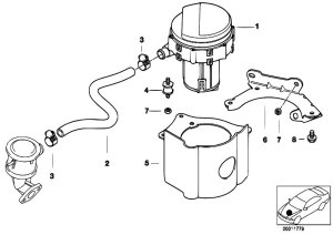 Original Parts for E46 320i M52 Sedan  Engine Emission
