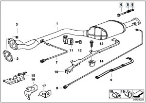 Original Parts for E36 318is M44 Sedan  Exhaust System