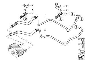 Original Parts for E53 X5 44i N62 SAV  Radiator