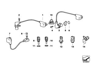 Original Parts for E38 740i M60 Sedan  Engine Electrical