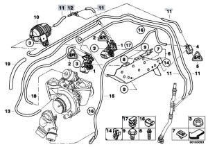 Original Parts for E81 123d N47S 3 doors  Engine Vacum