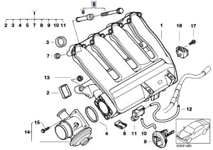 Original Parts for E46 320d M47N Touring  Engine Intake