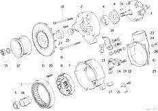 Original Parts for E36 320i M50 Sedan  Engine Electrical System Alternator Parts 140a  eStore