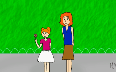 Passeando com a mamãe