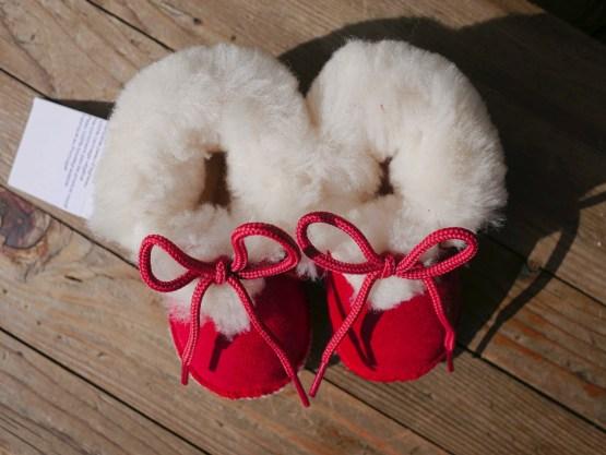 chaussons fourrés laine