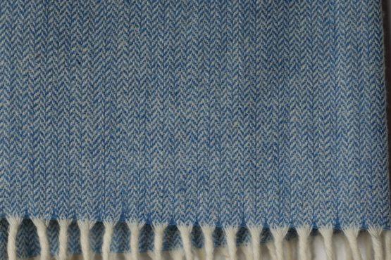 étole laine bleu ciel Estrel Home