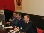 Il Ministro con Paolo Carrà e Marzio Liuni